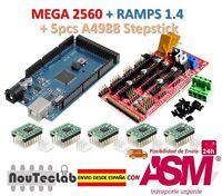 Mega 2560 R3 + RAMPS 1.4 Control Panel + 5pcs A4988 Stepper Drive
