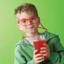 FUN Colorful Soft Glasses Unique Flexible straw Drinking Tube Kids Party Gift