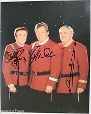 Rare Autographed Star Trek 8X10 Post Card - W. Shatner, W. Koenig, James Doohan