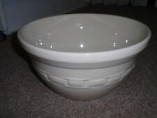 """Longaberger """"Extra Large Mixing Bowl"""" Ivory"""", New!"""