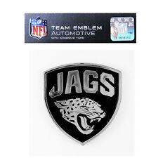 NFL Jacksonville Jaguars Plastic Chrome Emblem Decal Size Aprx. 3 x 3 3/4 inches