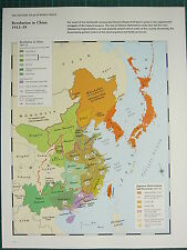 WW2 WWII MAP ~ REVOLUTION IN CHINA ~ JAPANESE INTERVENTION & INVASIONS