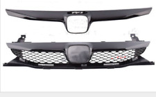 Front Center Grille For Honda Civic 09-11 Sedan 4Dr SI Style Glossy Black Trim