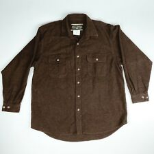 FIELD AND STREAM Mens XL Classic Flannel BROWN 100% Cotton Shirt Long Sleeve