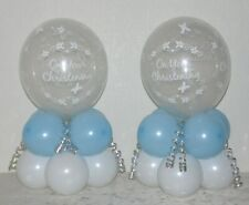 Christening BOY or GIRL 2 / 6 /12 Pack Table Balloon Decoration Display Kit