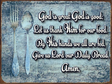 God is Great Blessing Metal Sign, Inspirational, Christian, Kitchen Décor