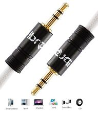 IBRA® 3M 3.5mm to 3.5 mm Male Jack Audio IPOD AUX MP3 Gold Cable - Black