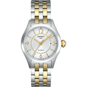 Tissot Swiss Made T-One 2 Tone Gold Plated Ladies' Automatic Watch