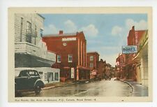 Rue Royale—Sainte Anne de Beupre VINTAGE QUEBEC Antique CPA Downtown SIGNS 1930s