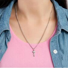 Couple Titanium Steel Bangle Bracelet and Key Pendant Necklace Sets Fashionable