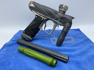 Bob Long Onslaught Paintball Marker w/ Case - Grey + Chrome - Tested