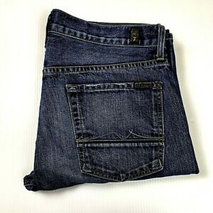 7 For All Mankind Standard Straight Leg Button Fly Blue Jean Size 34