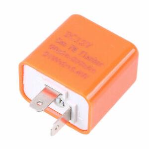 2Pin LED Flasher Relay Turn Signal Blinker Light Adjustable for Motorcycle 12V