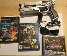 PLAYSTATION LIGHT BLASTER GUN 4GAMERS SPC021 +3 ( PS2 PS1) TIME CRISIS GAMES PAL