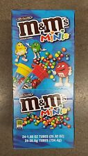 M&M's Minis Tubes 1.08 oz (24 ct) Milk Chocolate Candy Bar Crunchy Shell