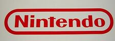 "Nintendo NES Sticker Decal Logo Super SNES 6"" x 24"" RED"