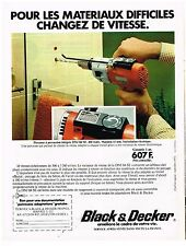 PUBLICITE ADVERTISING  054  1977  BLACK& DECKER   perceuse à percussion
