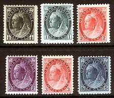 Canada #74-#79 1/2c-5c 1898-1902 Queen Victoria  XF *MLH* CV $595+ 6 items