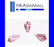 6 Swarovski Crystal Beads Teardrops 6000 11x5.5mm ROSE