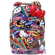 Sanrio Hello Kitty School Backpack with 3D Bow and Ears Stickers Loungefly