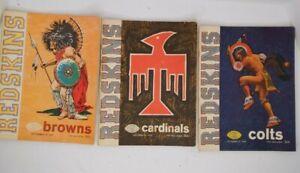 Lot of 7 1965 Washington Redskins Home Game Program Magazines Sept19 thru Dec19