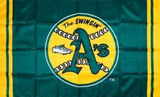 Oakland Athletics MLB Flag 3x5 ft Sports Green Banner The Swingin A's Man-Cave