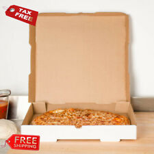 "(50-Pack) 18"" x 18"" x 1 3/4"" White Corrugated Plain Pizza / Bakery Box"