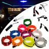 LED Light Glow Neon EL Wire Strip Rope Tube Car Dance Party + Controller ST17