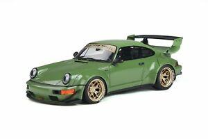 1:18 Porsche RWB 964 w/Wide Body Bodykit -- Atlanta Green -- GT Spirit