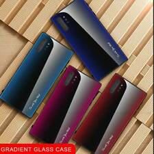 For Samsung Note 10 Plus S9 S10+ Gradient Texture Tempered Glass Back Case Cover