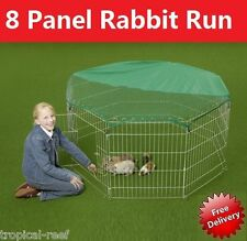 Heritage 8 Panel Dog Puppy Rabbit Cage Run PlayPen Guinea Duck Chicken Enclosure