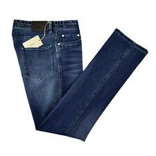 New BRIONI Stelvio Stonewashed Woven Cotton Classic Fit Indigo Jeans 36 NWT $595