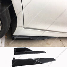 PP Black Side Skirt Rocker Splitters Winglet j Shovel Anti-Scratch 14X2 Inch 2x