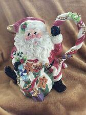 Stunning FITZ And FLOYD Holiday Christmas Sugar Plum SANTA PITCHER Free Shipping