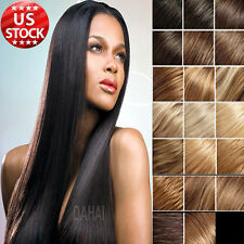 High Quality Clip In Remy Human Hair Extensions Full Head Blonde Black Color A22