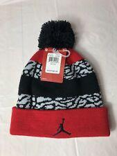 Jordan Jump Man Jumpman Pom Pom Winter Beanie Hat Youth Size 8/20 9A1648-681 Nwt