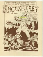 DAVE STEVENS ROCKETEER PRINT 1987 Ltd Low Print Run OREGON SHOW Event BETTY PAGE