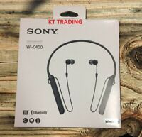 Sony WI-C400 Wireless Headphones Bluetooth Microphone - Black - NEW