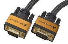 aricona VGA Kabel – 3 m Monitor Kabel HD Monitorkabel Gold Stecker DVD Player PC