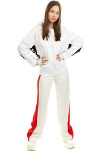 RRP €760 STELLA MCCARTNEY Sweatshirt Size 40 / XS Two Tone Branded Side Strap