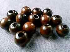 100pcs 8mm  coffee Big hole wood Spacer bead