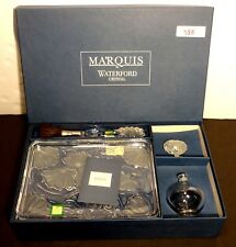 *NEW* Waterford Crystal Marquis FLORALVanity Set Tray, Brush, Perfume Bottle NIB