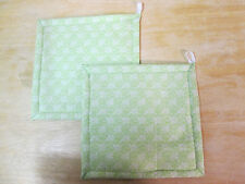 New listing Potholders- Set of 2, Hand-Crafted, Green