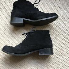 Timberland Ladies Black Suede Short Boots, EU 37,UK 5, Used