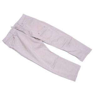 DSQUARED2 Pants Beige Silver Woman unisex Authentic Used D1798