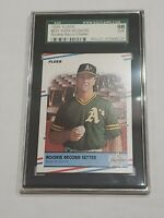 1988 Fleer Rookie Record Setter Mark McGwire VERY RARE SGC 98 / 10 Gem Mint