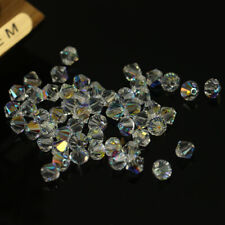 5301 jewelry 3mm Glass Crystal Bicone bead 1000pcs White AB