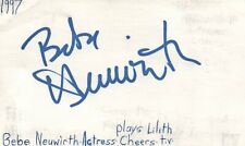 Bebe Neuwirth Actress Lilith in Cheers TV Show Autographed Signed Index Card