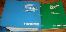 Original 2001 Mazda MPV Shop Service Manual + Wiring Diagram Set 01