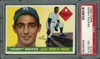 1955 Topps Baseball | Sandy Koufax ROOKIE RC Card # 123 | PSA 4 VG - EX